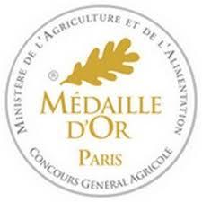 Goldmedaille für das Olivenöl - Medaille D'Or von Concours Géneral Agricole Ministre de l'Agricultur et de alimentation (Ministerium für Landwirtschaft und Lebensmittel)
