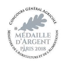 Silbermedaille für das Olivenöl - Medaille D'Argent von Concours Géneral Agricole Ministre de l'Agricultur et de alimentation (Ministerium für Landwirtschaft und Lebensmittel)