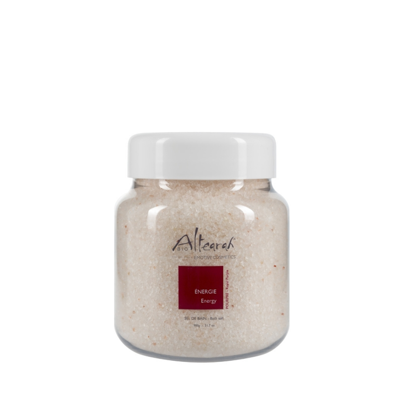 Aroma Badesalz Bio Purpur 900 g mit ätherischen Ölen