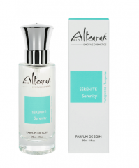 Das Bio-Parfüm mit dem Wellnessduft in Türkis beruhigt den Geist und sorgt für Gelassenheit   ALTEARAH - Zertifizierte Naturkosmetik aus der Provence